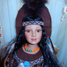 Papusa portelan indian-Amrita-