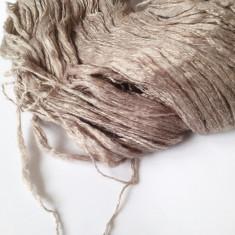 Fir de tricotat sau crosetat, lana merinos cu matase, natural, f moale matasos
