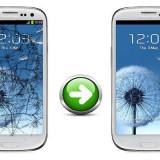 Gevey SIM - Inlocuire Geam Sticla Samsung I9300 Galaxy S3 Alb