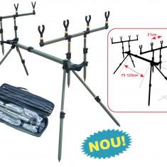 Rod pod Pescuit - Rod Pod ( RodPod ) 4 Baracuda Pentru 4 lansete + Geanta Transport