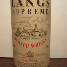 whisky langs supreme, scoth whisky 5 years,  cl.70 gr.40