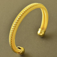 Bratara placata cu aur 18K; marime reglabila - Bratara placate cu aur