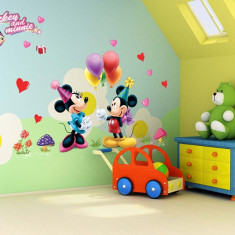 Sticker Perete Autocolant Mickey & Minnie Mouse Camera Copiilor CALITATE