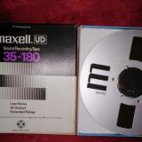 Banda magnetofon Maxell UD 35-180 rola metalica aluminiu reel nab