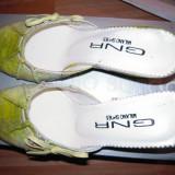 Pantofi de dama, pentru vara , verzi (vara - concediu - vacanta), marimea 37 NOI