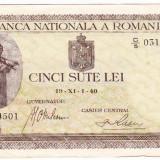 7) Bancnota 500 lei 1 XI 1940, An: 1940