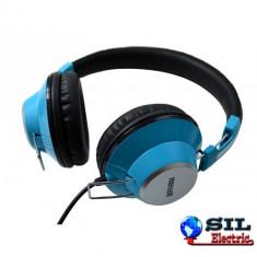 Casti DJ - Casca stereo DJ retro albastra Maxell