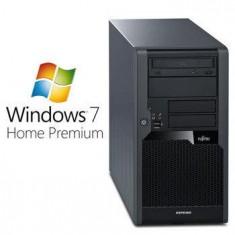 Sisteme desktop fara monitor - Calculatoare Refurbished Fujitsu Esprimo P5731 E8400 Windows 7 Home