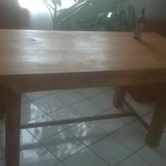 Mobilier - Masa lemn masiv sculptata manual