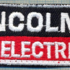 286 -EMBLEMA - LINCOLN ELECTRIC -APARATURA REPARATII AUTO -starea care se vede - Uniforma militara