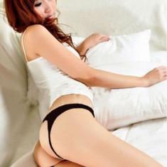 Bikini Mini G-string Chilotei Sexy Transparenti Dantela Chiloti Open Back Crotch - Lenjerie sexy dama, Culoare: Albastru, Bej, Mov, Negru, Rosu, Roz, Marime: One size