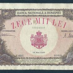 Bancnote Romanesti, An: 1945 - ROMANIA 10000 10.000 LEI 18 MAI 1945 [26]