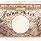 5)Bancnota 2000 lei 18 noiembrie 1941, filigran Traian, VF