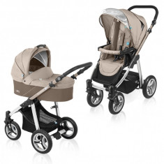 Carucior copii 2 in 1 - Carucior multifunctional 2 in 1 Lupo Beige Baby Design