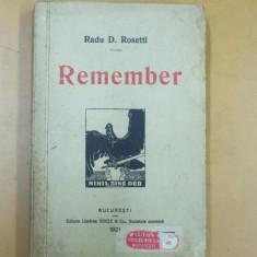 Carte veche - Radu D. Rosetti Remember Bucuresti 1921