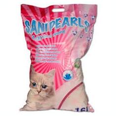 Pisica - Asternut igienic din silicat, Maxima SaniPearls, perle roz, 16 L