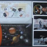 ANGOLA - COSMONAUTICA 2 M/SH SI 3 S/S, NEOBLITERATE - E3655, Spatiu