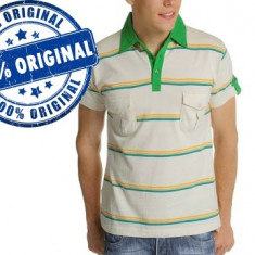 Tricou barbat Luca Polo - tricou original - Tricou barbati Luca, Marime: M, Culoare: Alb, Maneca scurta, Bumbac
