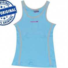 Maieu dama Reebok Retro - maieu original - maieu sport - tricou tenis - Maiou dama Reebok, Marime: M, Culoare: Bleu