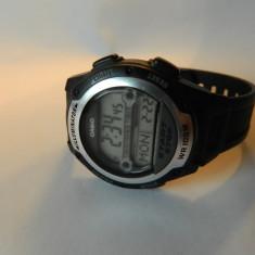 Ceas barbatesc Casio, Sport, Quartz, Inox, Material textil, Cronograf - Ceas CASIO world time, iluminator alarma