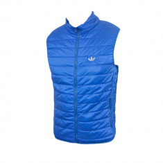 Vesta Adidas Originals, Casual, Albastra, de Fas, Toate Masuile F252 - Vesta barbati, Marime: XL, Culoare: Albastru