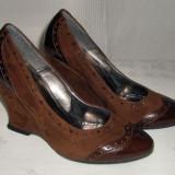Pantof dama piele naturala ANNO ZERO marimea 37 - OFERTA