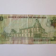 HONDURAS 20 LEMPIRAS 2006 - bancnota america