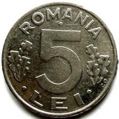 ROMANIA, 5 LEI 1992 - Moneda Romania, Crom