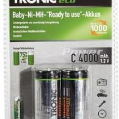 Baterie Aparat foto, Dedicat - SET 2 ACUMULATORI R14 Ni-MH, TRONIC ECO, 4000 mAh, BATERII REINCARCABILE