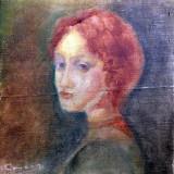 Roscata de Marian Condruz ulei pe lemn - Pictor roman, Portrete, Altul