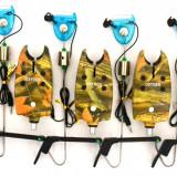 Avertizor pescuit - Set 5 Avertizori TLI 07 camou Marca Oxygen Si 5 Swingeri Lumino