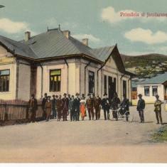 PRIMARIA SI JANDARMERIA DIN MOINESTI - Carte Postala Moldova 1904-1918, Stare: Circulata, Tip: Printata