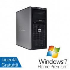 Sisteme desktop fara monitor - Dell Optiplex 360, Intel Dual Core E2200, 2.2 Ghz, 2Gb, DDR2, 80GB, DVD-RW + Windows 7 Home Premium