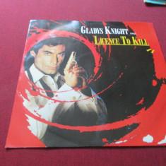 *** DISC VINIL GLADYS KNIGHT SINGS LICENCE TO KILL - Muzica soundtrack