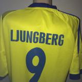 Set echipament fotbal - TRICOU FOTBAL- LJUNGBERG- NATIONALA SUEDIEI