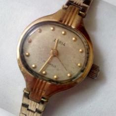 Ceas de mana - Ceas de dama Zaria placat cu aur inclusiv bratara