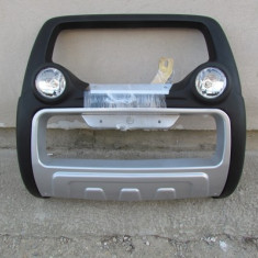 Bullbar auto - Bullbar inox cu proiectoare compatibil VW AMAROK 2010->