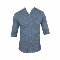 Camasa barbati - Camasa Polo Ralph Lauren, Eleganta, Bumbac, Carouri, Bleumarin, Toate Mas C328