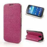 Husa Flip Cu Stand Samsung Galaxy S4 Active I9295 I537 Roz