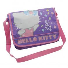 Gentuta Copii - In STOC! Geanta Hello Kitty Messenger Bag - Noua - Dimensiuni H33xW40xD13 cm