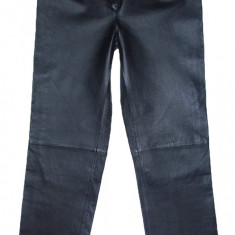 Pantaloni dama, Lungi, Piele - PANTALONI PIELE NATURALA - (MARIME: 30) - Talie = 78 CM / Lungime = 107, 5 CM