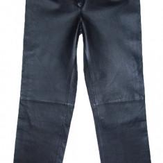 PANTALONI PIELE NATURALA - (MARIME: 30) - Talie = 78 CM / Lungime = 107, 5 CM - Pantaloni dama, Culoare: Negru