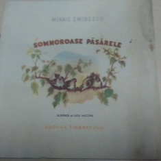 Carte poezie copii - Somnoroase pasarele - Mihail Eminescu/ ilustratii de Ligia Macovei