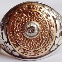 Inel-Ghiul barbatesc cu diamant solitar marca GOLDEN CREST - Inel diamant