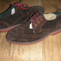 OFERTA! Pantofi oxford LUX TED BAKER ORIGINALI noi piele intoarsa maro Sz 41! - Pantofi barbati