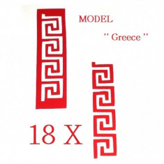 Unghii modele - Set 18 sabloane vinyl ''Greece''
