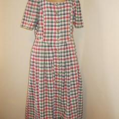 Rochie tiroleza, bavareza, dirndl original, rochie lunga cu nasturi 42 M-L - Costum populare, Din imagine