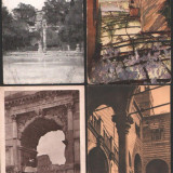 Lot 4 ilustrate vechi, Italia, Fotografie, Europa