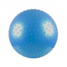 Minge fitness, aerobic si masaj 65 cm - cu pompa - albastra
