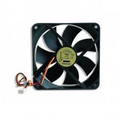 Ventilator carcasa GEMBIRD (FANCASE3), universal de 120mm, Ball Bearing, tensiune 12VDC, Negru - Cooler PC